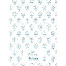 Toweltje Bayern teatowel blue