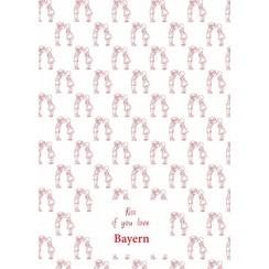 Bayern teatowel Red