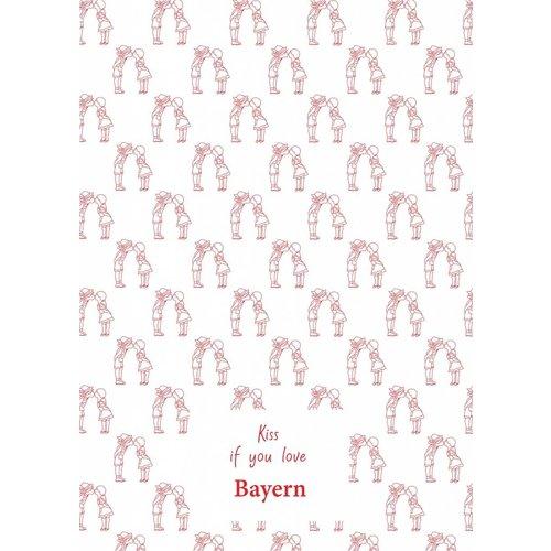 Toweltje Bayern teatowel Red