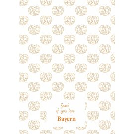 Toweltje Bayern teatowel Orange