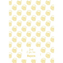 Bayern teatowel Yellow