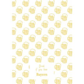 Toweltje Bayern teatowel Yellow