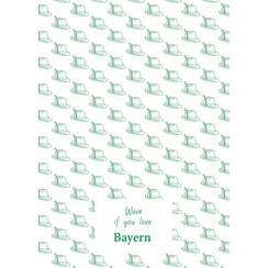 Bayern teatowel Green
