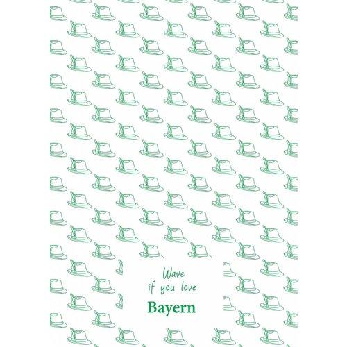 Toweltje Bayern teatowel Green