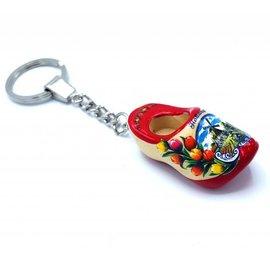 Woodenshoe keyhanger 1 shoe Red sole