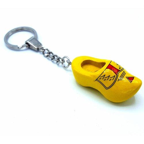 Woodenshoe keyhanger 1 shoe farmer yellow