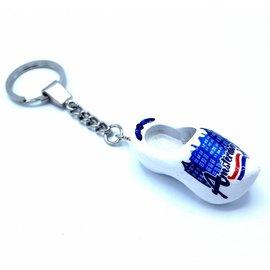 Woodenshoe keyhanger 1 shoe amsterdam blue