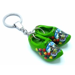 Woodenshoe keyhanger 2 shoes Green