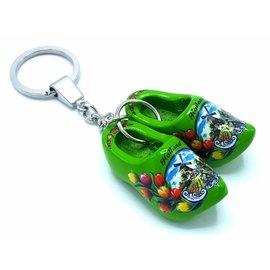 Woodenshoe keyhanger 2 shoes Green