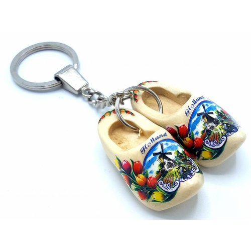 Woodenshoe keyhanger 2 shoes Transparent