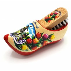 Shoe brush clog red sole