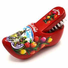 Shoe brush clog red