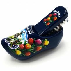 Shoe brush clog blue
