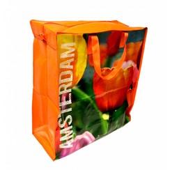 Shopper big tulips Amsterdam
