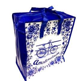 Shopper medium delftblue fiets