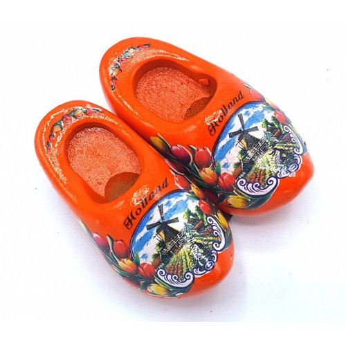 Woodenshoe magnet 4cm Orange