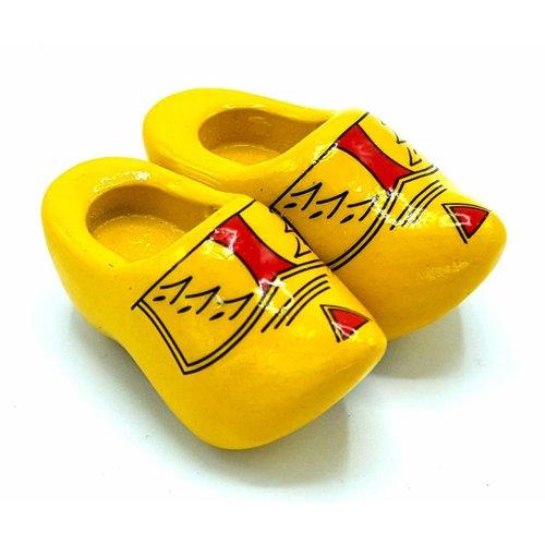 Woodenshoe magnet 4cm Farmer yellow