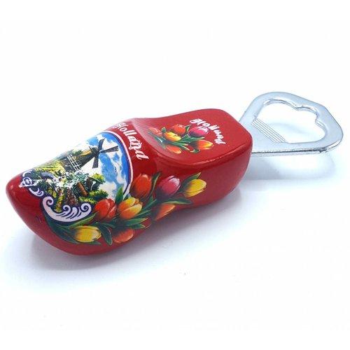 Bottle opener clog 8cm Red