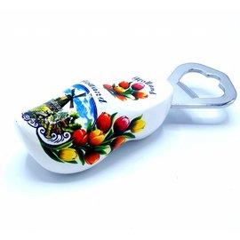 Bottle opener clog 8cm White