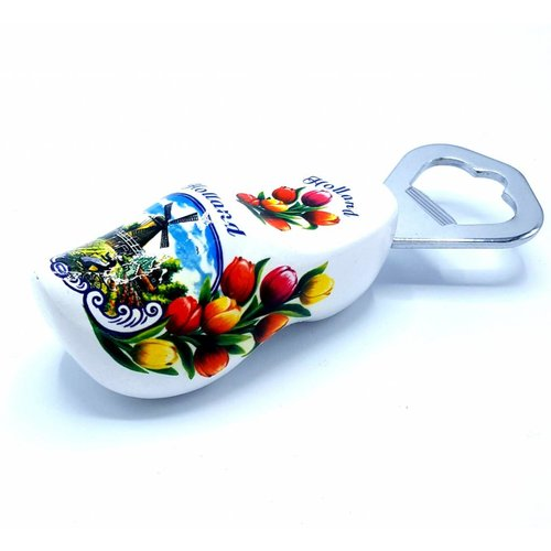 Bottle opener clog 8cm White