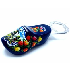 Bottle opener clog 8cm Blue