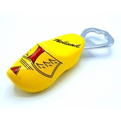 Bottle opener clog 8cm Yellow farmer