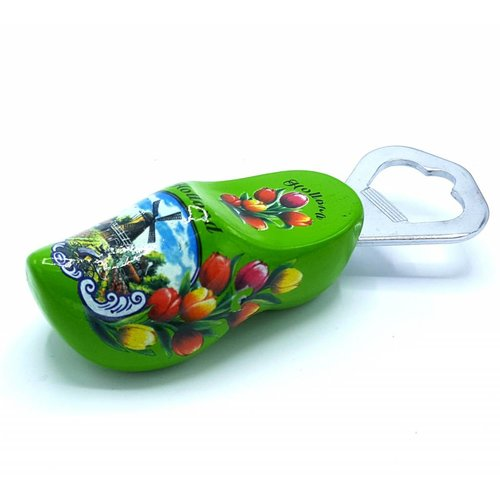 Bottle opener clog 8cm green