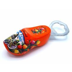Bottle opener clog 8cm Orange