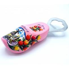 Bottle opener clog 8cm pink