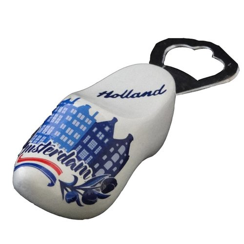 Bottle opener clog 8cm adam blue