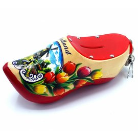 Money bank clog 15cm Red sole