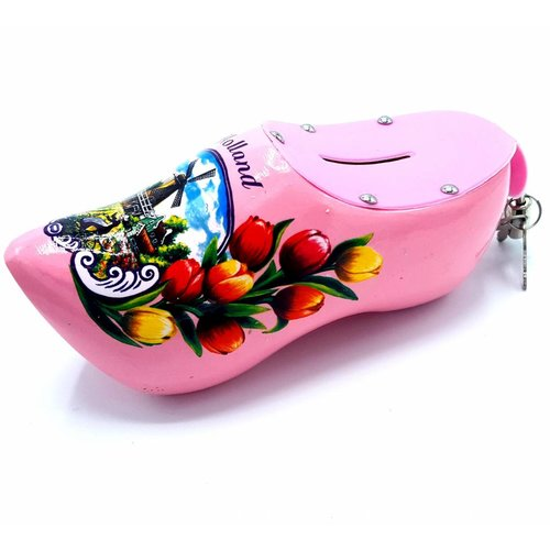 Money bank clog 15cm Pink