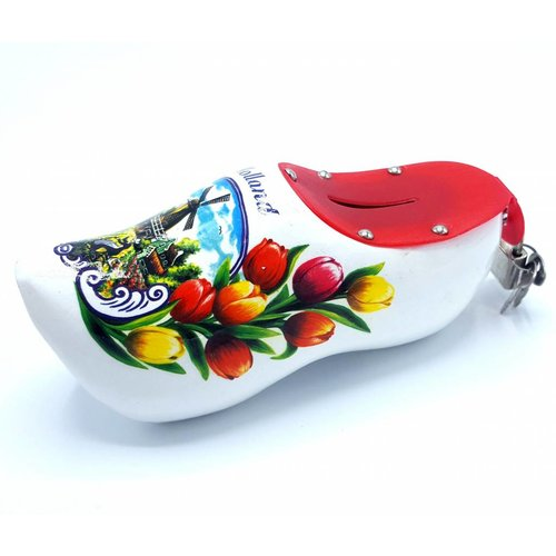 Money bank clog 15cm White