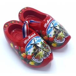 Souvenir woodenshoes 14cm Red