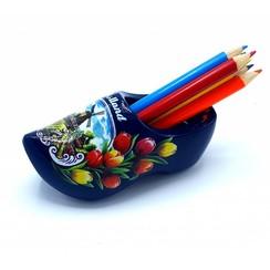 Pencil clog with 6 pencils Blue