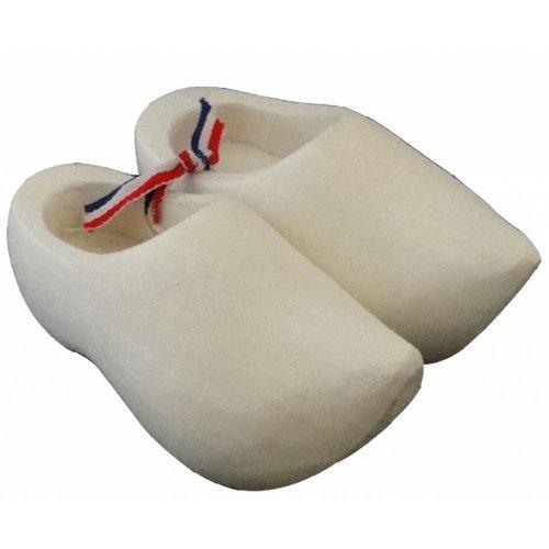 Souvenir woodenshoes 12cm sanded