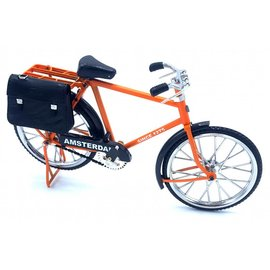 Miniatuurfiets 23cm Oranje