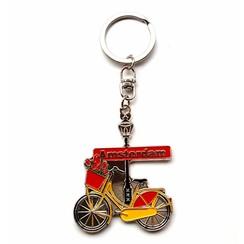 Keyhanger Amsterdam bike yellow/red