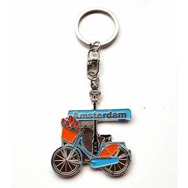 Keyhanger Amsterdam bike light blue