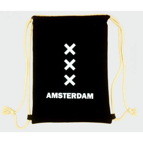 Amstel bags Draw string bag Amsterdam XXX black