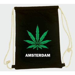 Draw string bag weed black
