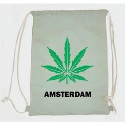 Draw string bag weed white