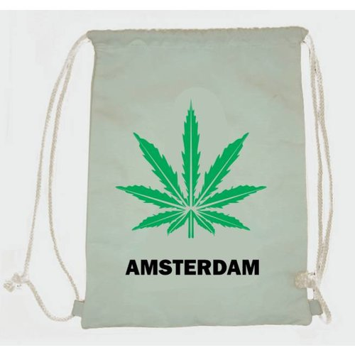 Amstel bags Draw string bag weed white