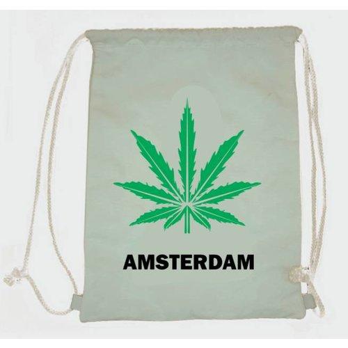 Amstel bags Rugtas katoen Weed wit