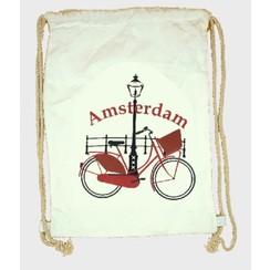 Draw string bag bike white