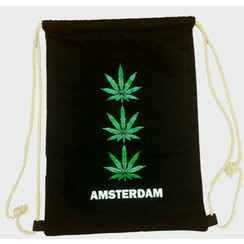 Draw string bag 3x weed black