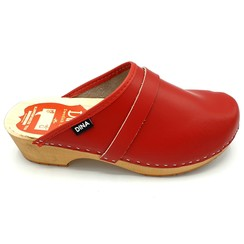 DINA Leather clogs Red