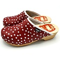 DINA DINA leather clogs red with dots
