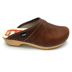 DINA Leather clogs Brown