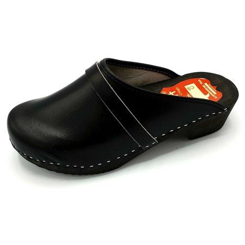 DINA DAAN Leather clogs Black